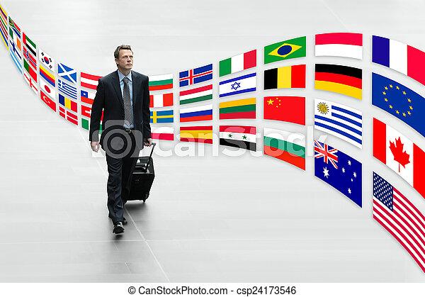 geschäftsmann, reisen, international - csp24173546