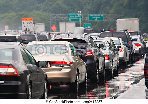 atasco, tráfico - csp2417387