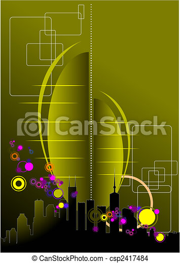 Abstract urban modern composition - csp2417484