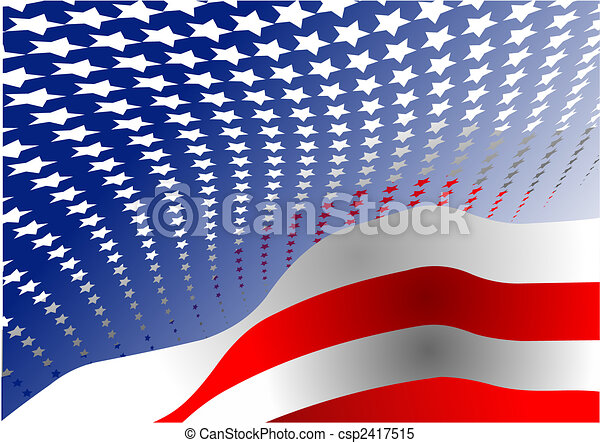 4th July – Independence day of United States of America. Poster for  graphic designers - csp2417515