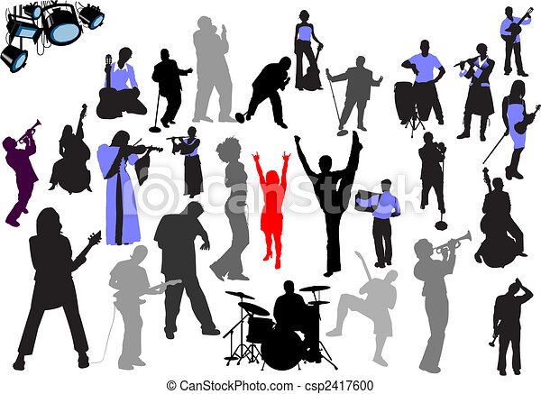 Orchestra silhouettes - csp2417600