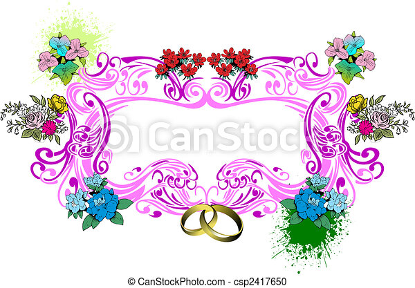 Wedding or Valentine`s day card - csp2417650