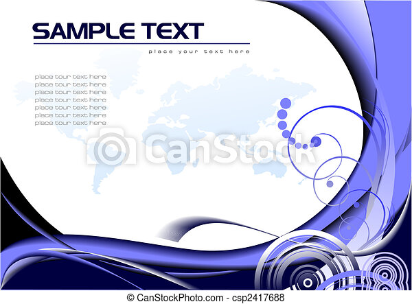 Abstract background with Earth image. Vector illustration - csp2417688