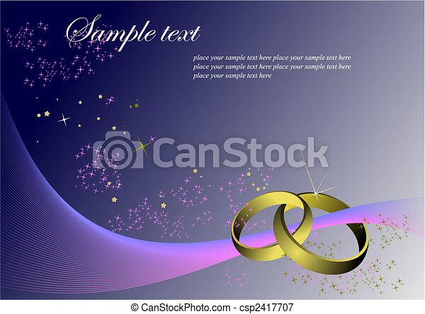 Greeting card for wedding or Valentine Day with place for text - csp2417707
