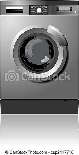 White washing machine vector - csp2417718