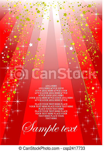Holiday red background or cover for festival brochure - csp2417733