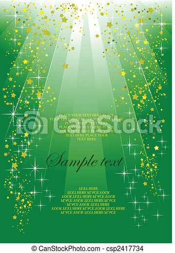 Holiday green background or cover for festival brochure - csp2417734