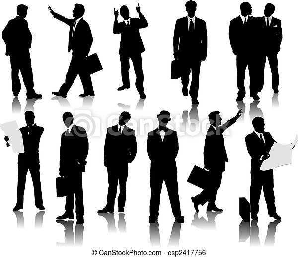 Business people  silhouettes - csp2417756