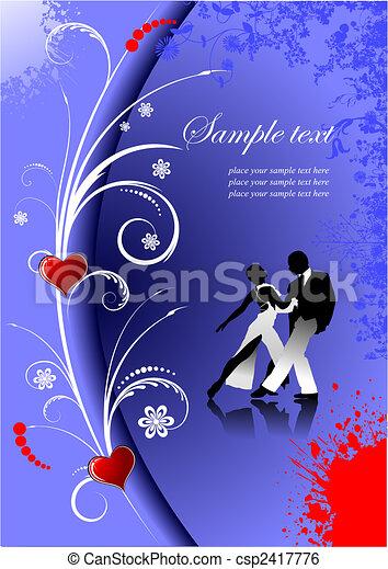 Valentine`s Day  Greeting Card. Vector illustration. Invitation card - csp2417776