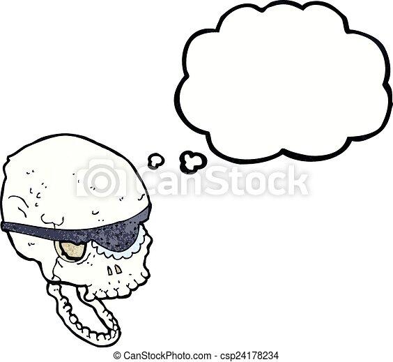 Vecteurs de dessin animé, Spooky, crâne, oeil, pièce ... - photo #27