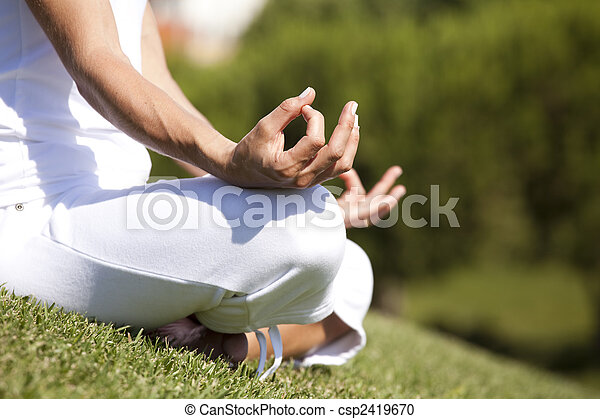 Yoga with the nature - csp2419670