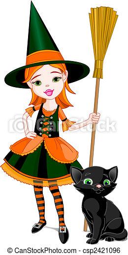Little Halloween Witch - csp2421096