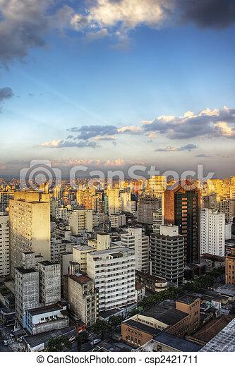 Twilight in Sao Paulo - csp2421711