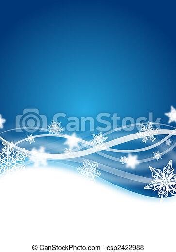winter flyer - csp2422988