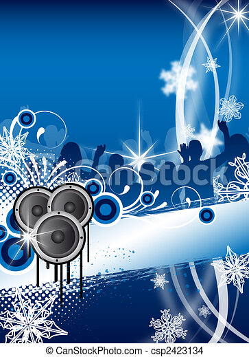 christmas / winter party flyer - csp2423134