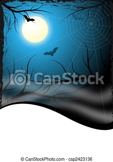 creepy flyer / background - csp2423136