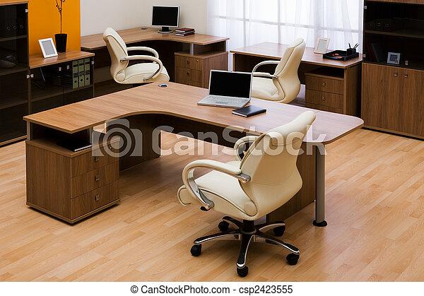 moderne, bureau - csp2423555
