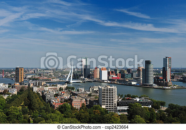aerial view of  Rotterdam - csp2423664
