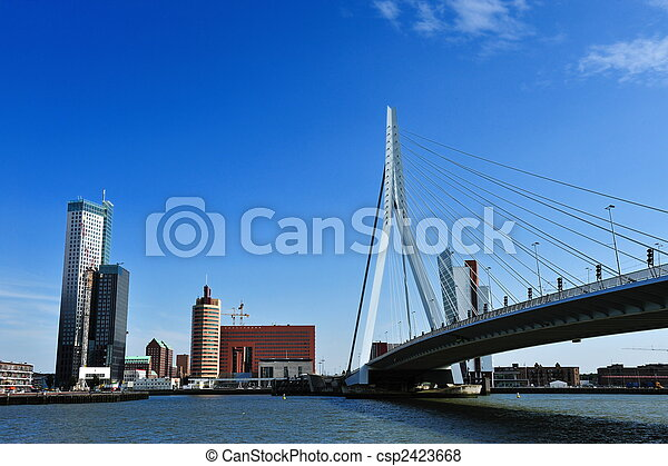 Erasmus bridge in Rotterdam - csp2423668
