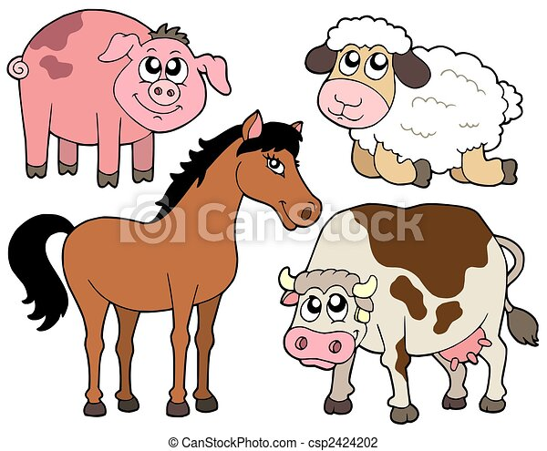 Country animals collection 2 - csp2424202