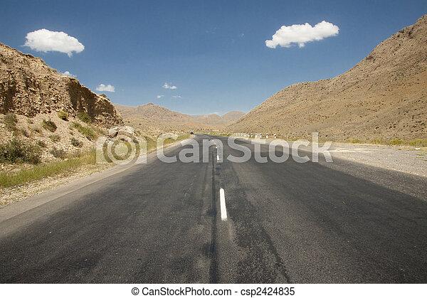 Route on the desert - csp2424835