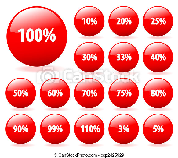 Set of vector aqua style discount buttons with shadow. Easy to edit, any, size. More in my gallery. - csp2425929