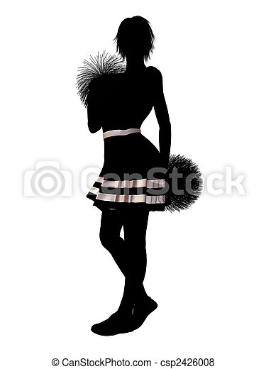 Cheerleader Illustration Silhouette - csp2426008