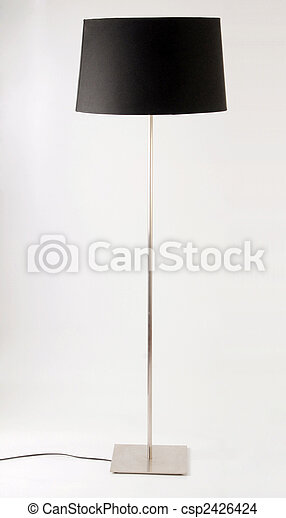 Contemporary floor lamp. Isolated on white - csp2426424