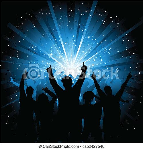 Disco crowd  - csp2427548