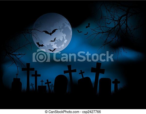 Spooky graveyard - csp2427766