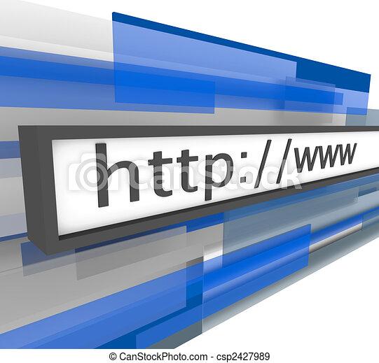Website Address Bar - http and www - csp2427989