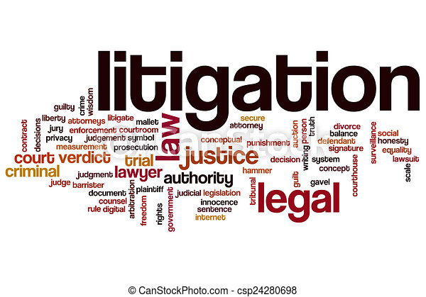 Stock Illustration of Litigation word cloud concept with legal law ...