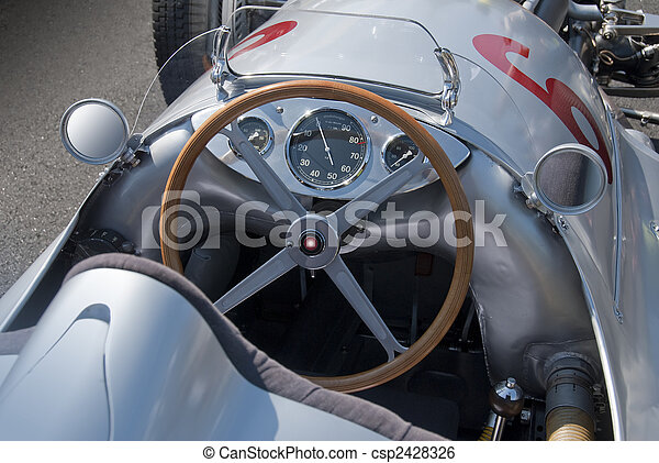 Mercedes W154 cockpit - csp2428326