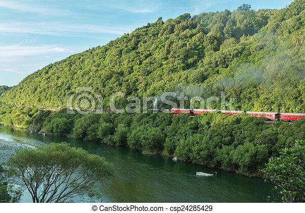 Manawatu Gorge Steam Train - csp24285429