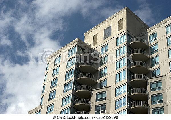 Modern residential building exterior. - csp2429399