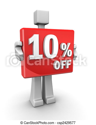 Seasonal sales 10 pecent off for shopping discount - csp2429577