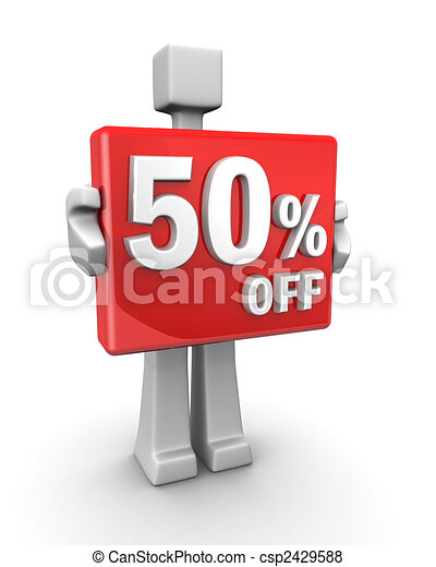 Seasonal sales 50 pecent off for shopping discount - csp2429588