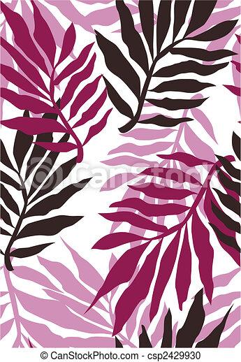 seamless plant wallpaper pattern - csp2429930
