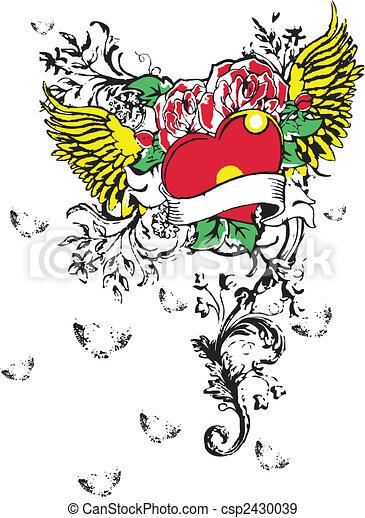 Gothic Heart Tattoo - csp2430039