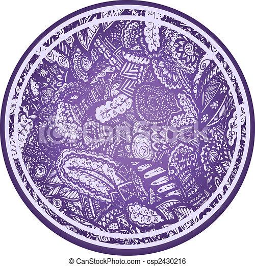 Paisley flores sphere element - csp2430216