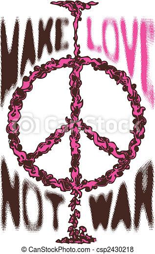 Peace War Cloud Love Poster Logo - csp2430218