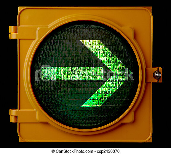 Right turn traffic light arrow - csp2430870