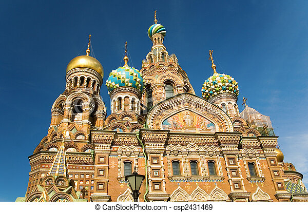 Church of the Savior on Spilled Blood, St.Petersburg, Russia - csp2431469