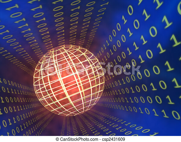 Binäre Daten Stock Illustration