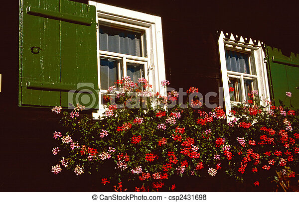Janela, ld, madeira, fazenda, casa - csp2431698