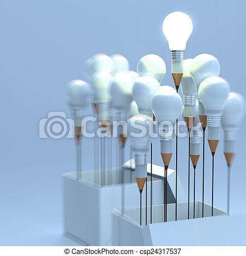 Stock de fotos dibujo idea l piz luz bombilla for Concepto de exterior