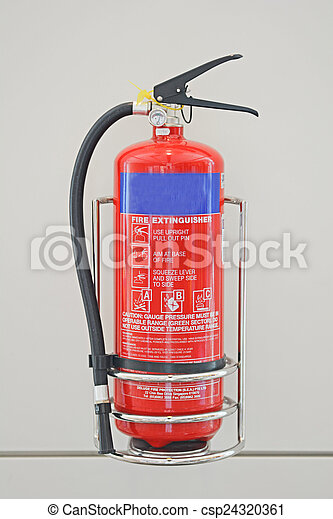 red fire extinguisher for emergency