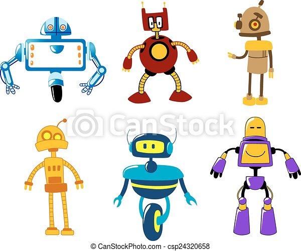 Cute Robot Icon Cute Colorful Retro Robot Toys