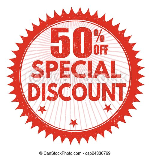 Clip Art Vector of Special discount 50% off stamp - Special ...