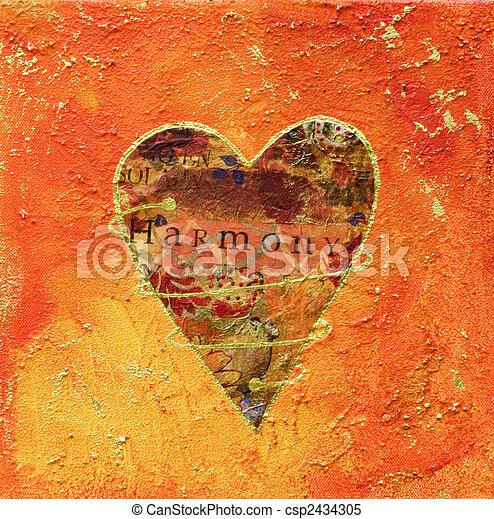 images de collage coeur peinture collage peinture coeur et csp2434305 recherchez. Black Bedroom Furniture Sets. Home Design Ideas